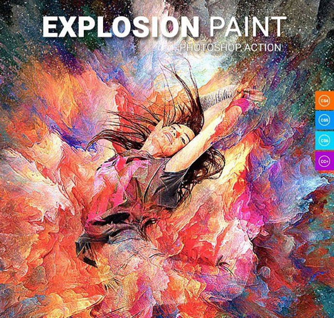 Explosion-Paint - 30+ Awesome Splatter Painting Effect Photoshop Actions [year]