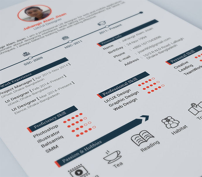 FREE-Resume - 41+ Free HTML PSD & InDesign CV Resume Templates [year]