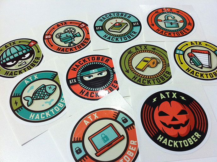 Facebook-Stickers-by-Nathan-Walker - 50+ Fantastic BEST FREE Typographic Logo Badge Designs