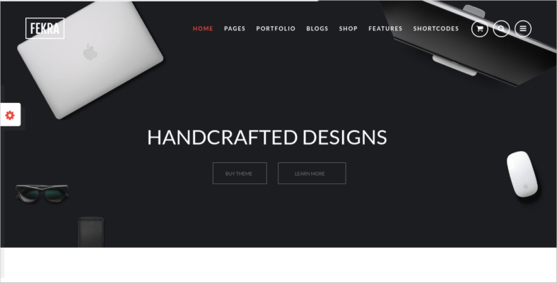 Fekra - 41+ Awesome Parallax Landing Page Themes [year]