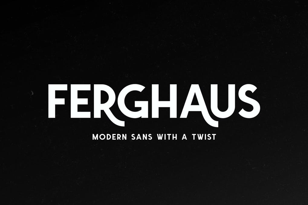 Ferghaus-Sans - 51+ All Caps Fonts For Your Unique Personality Headline Website [year]