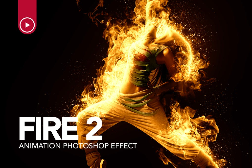 Fire - 35+ Awesome Animated GIF Photoshop Actions [year]