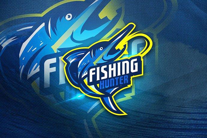 Fishing-Hunter - 60+ Personal & Team Branding AI & EPS eSports Logo Templates [year]