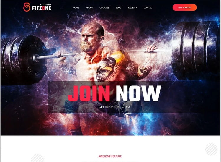 Fitzone-2 - 77+ Best Free HTML & CSS Clean Simple Website Templates [year]