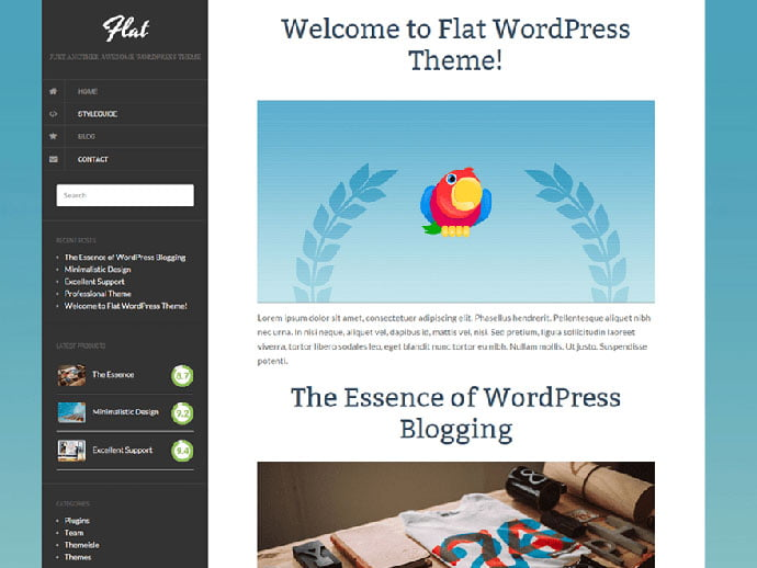Flat - 61+ Free Creating Responsive WordPress Themes [year]