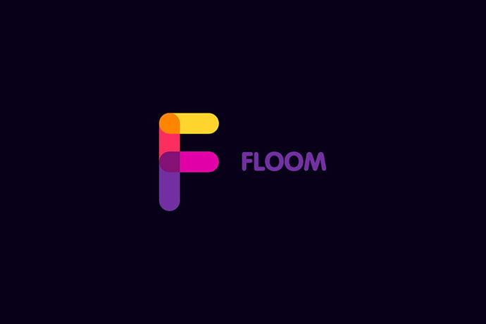 Floom - 50+ BEST Single Letter Business Logo Template [year]