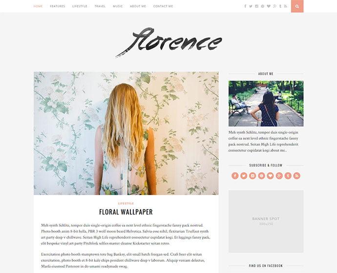 Florence-1 - 45+ Magazine & Blog WordPress Themes To Make Your Website [year]
