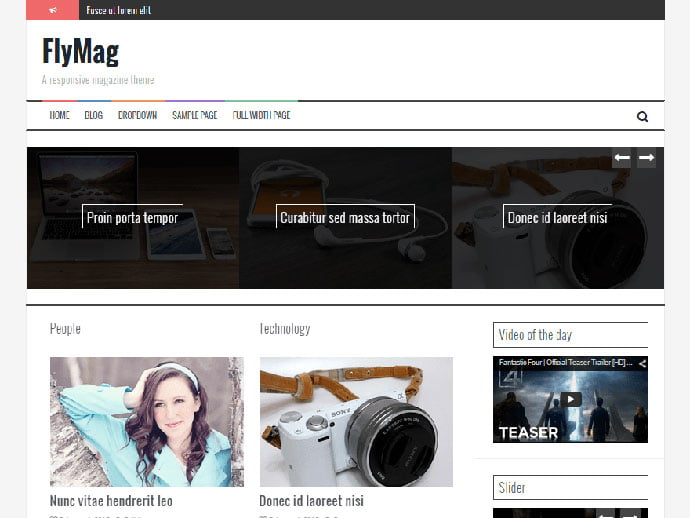 FlyMagFlyMag - 61+ Free Creating Responsive WordPress Themes [year]