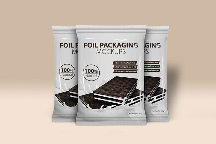 Foil - 60+ Delicious Food Packaging PSD Mockup Design Templates [year]