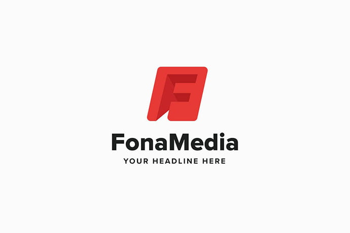 Fona-Media-F-Leter-Logo-Template - 50+ BEST Single Letter Business Logo Template [year]
