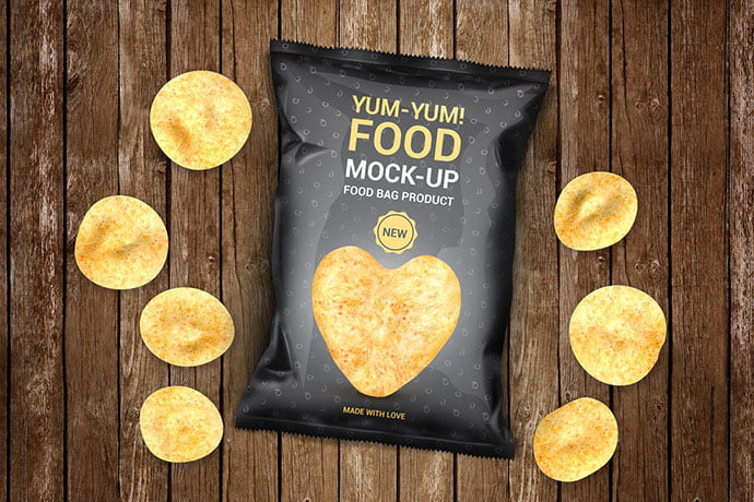Food-Bag-Product-Mock - 60+ Delicious Food Packaging PSD Mockup Design Templates [year]
