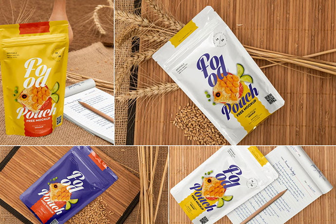 Food-Pouch - 60+ Delicious Food Packaging PSD Mockup Design Templates [year]