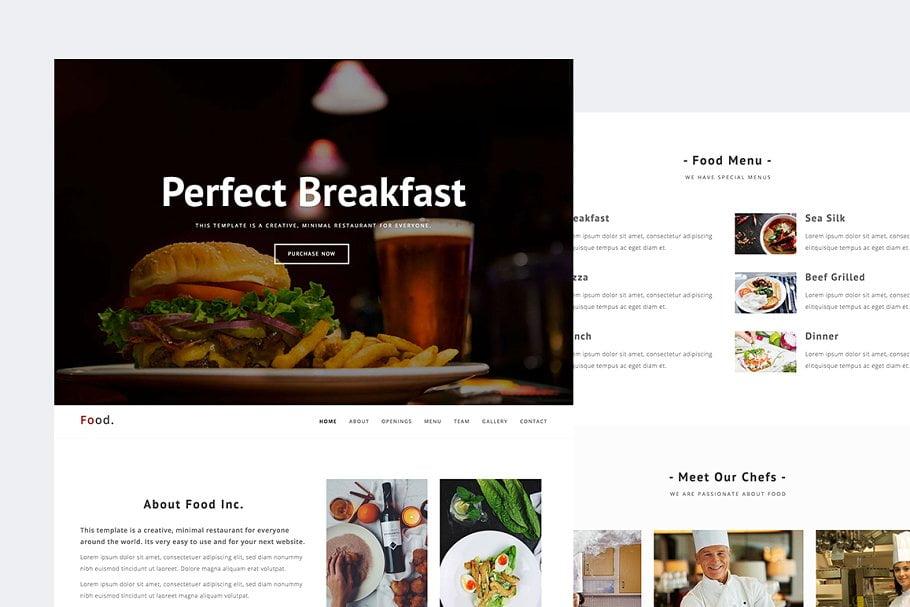 Food - 41+ Stunning Restaurant Website HTML5 Templates [year]