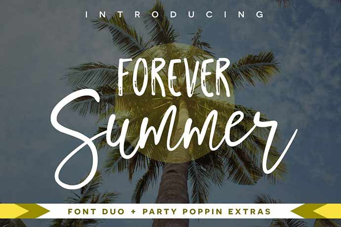 Forever-Summer-Font-Du - 51+ Stunning Travel Theme Designs Fonts For Your Website [year]