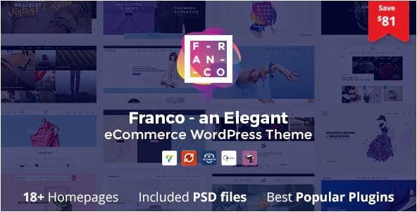 Franco-1 - 31+ Multicolor WordPress eCommerce Themes [year]