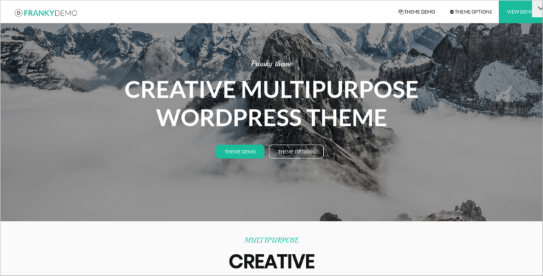 Franky - 41+ Awesome Parallax Landing Page Themes [year]