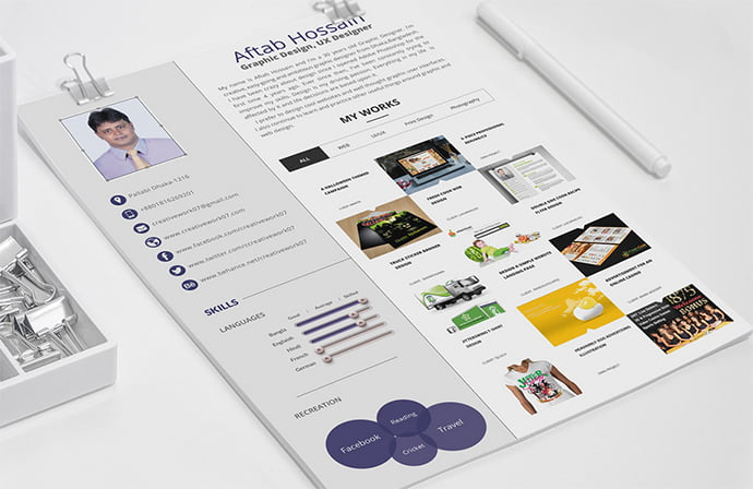 Free-2-page-Resume - 41+ Free HTML PSD & InDesign CV Resume Templates [year]
