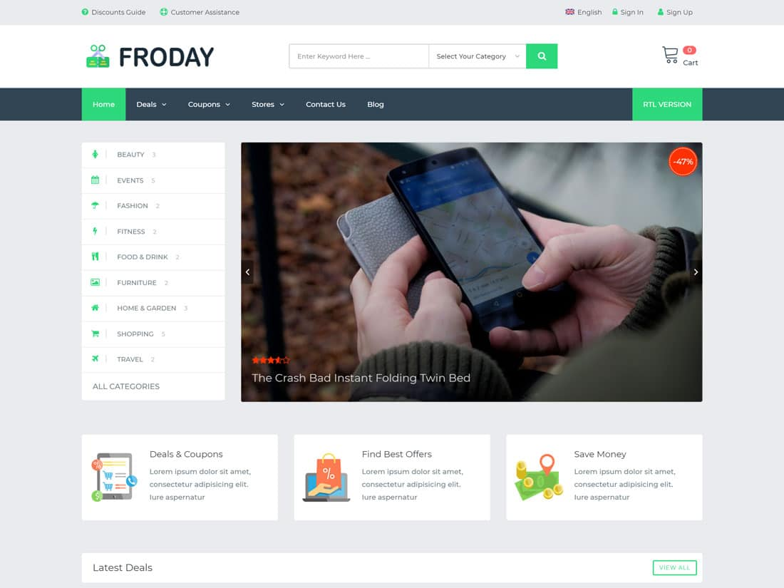 Froday - 26+ Amazing WordPress Coupon Themes and Plugins [year]