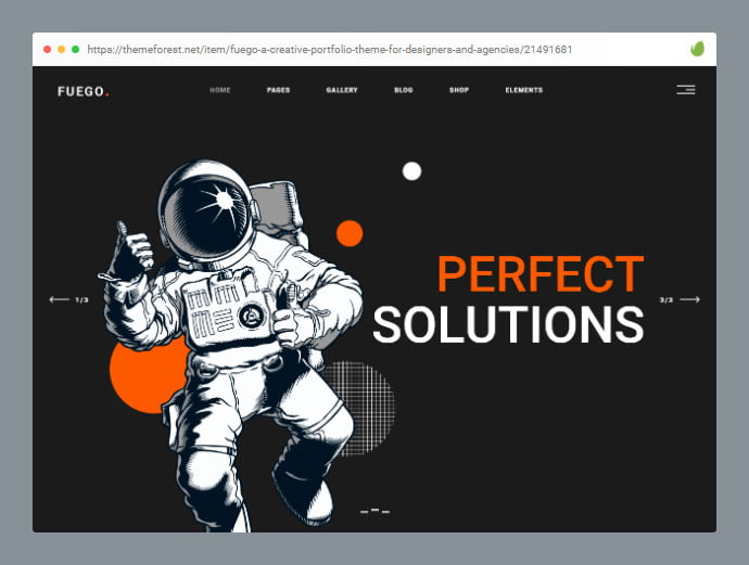 Fuego - 30+ Awesome Showcasing Illustrations WordPress Themes [year]