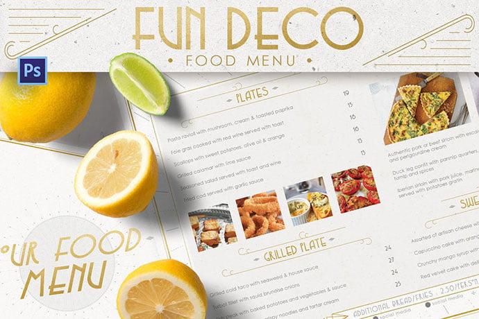Fun-Deco-Food-Menu - 35+ NICE Cake and Bakery Menu Design [year]