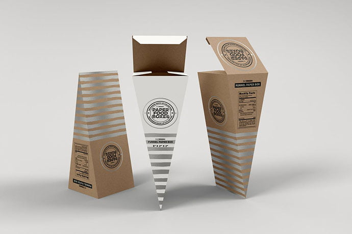 Funnel-Paper - 60+ Delicious Food Packaging PSD Mockup Design Templates [year]
