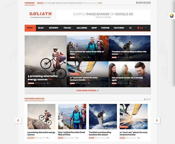GOLIATH - 45+ Magazine & Blog WordPress Themes To Make Your Website [year]