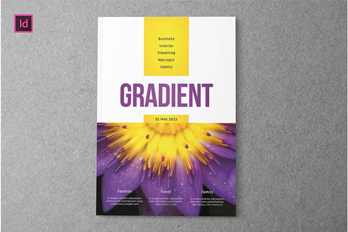 GRADIENT - 50+ Awesome Interior Magazine InDesign Templates [year]