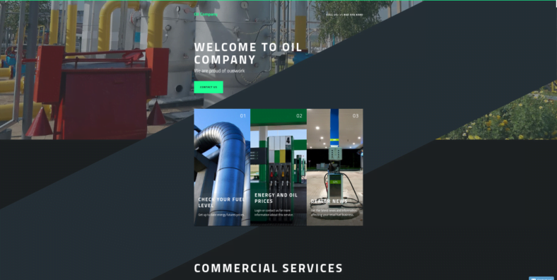 Gas - 41+ Awesome Parallax Landing Page Themes [year]