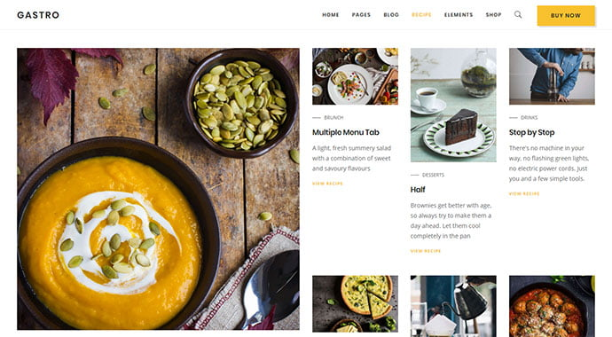 Gastro - 36+ Delicious Cooking Idea Share WordPress Themes [year]