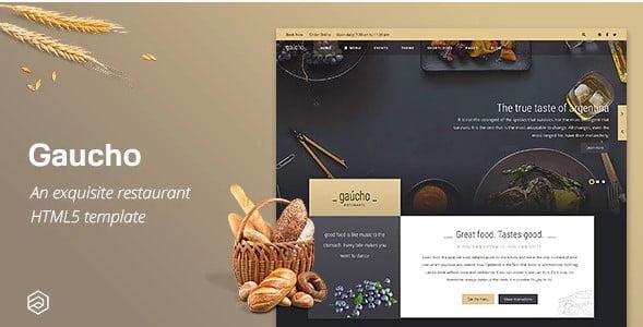 Gaucho - 41+ Stunning Restaurant Website HTML5 Templates [year]