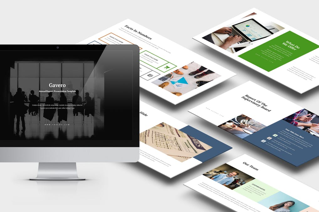 Gavero - 35+ Attractive Annual Report Powerpoint Templates [year]