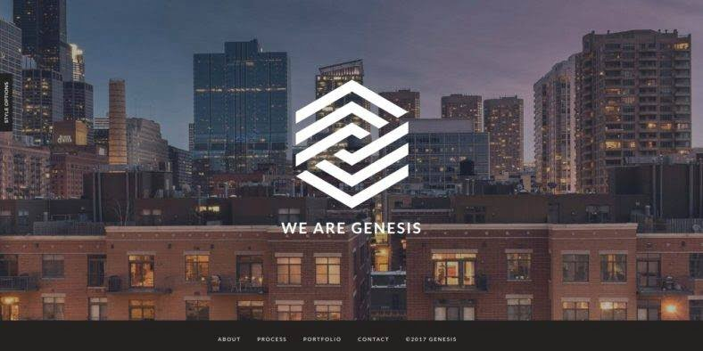 Genesis - 36+ Best One Page Modern and Creative HTML Templates [year]