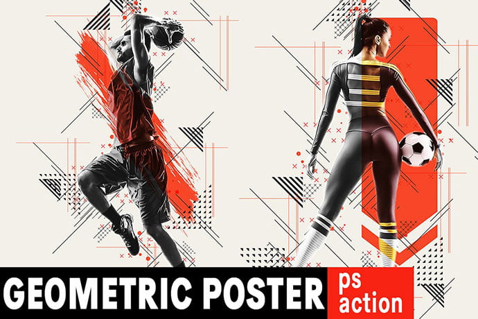 Geometric-Poster - 35+ Awesome Poster Design For Photoshop Actions [year]