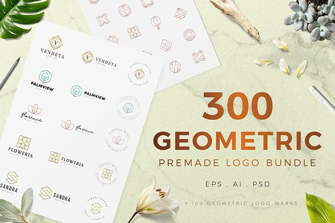 Geometric-Premade - 31+ Awesome Watermark Photographer Logo Templates [year]