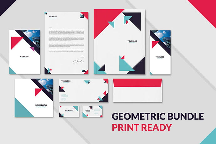 Geometric - 35+ Remarkable Stationery Branding Design Templates [year]