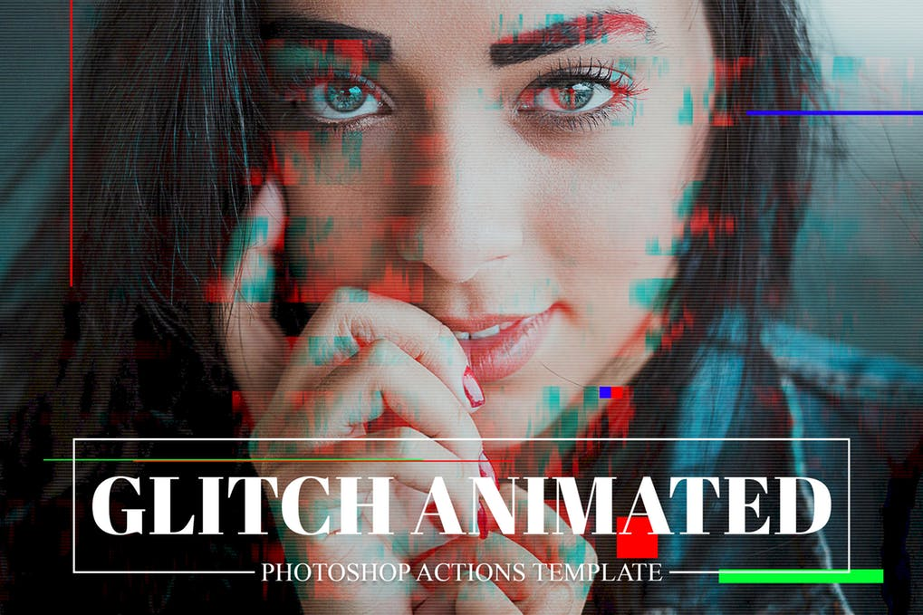 Gif-Glitch - 35+ Awesome Animated GIF Photoshop Actions [year]