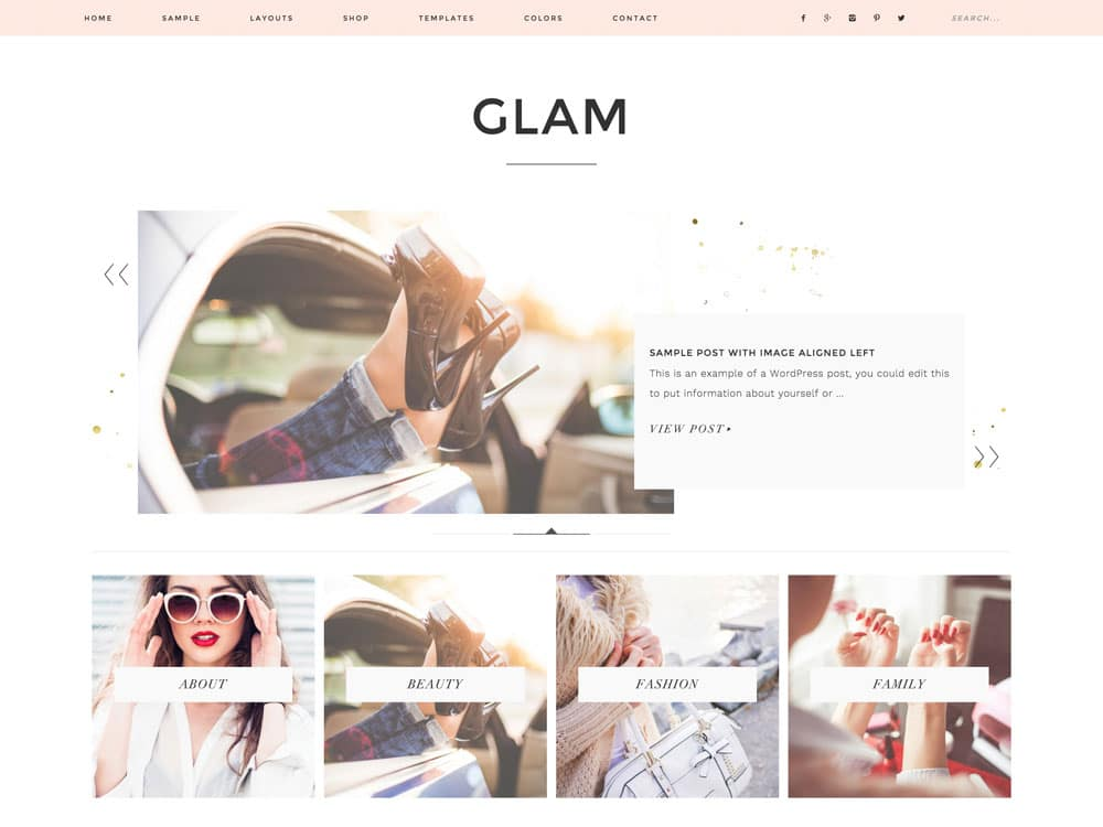 Glam-Pro - 25+ Awesome WordPress Themes For Feminine [year]
