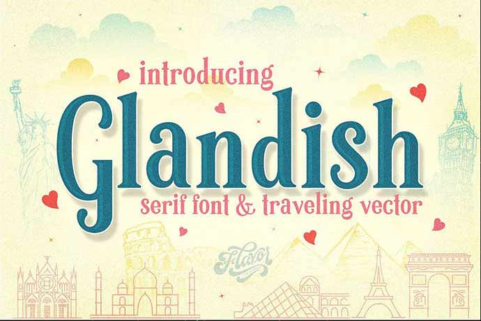 Glandish - 51+ Stunning Travel Theme Designs Fonts For Your Website [year]