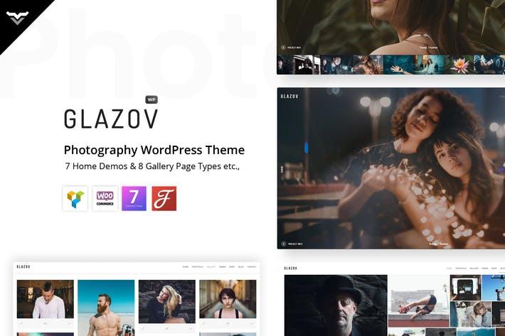 Glazov - 50+ Best Portfolio WordPress Theme Design [year]