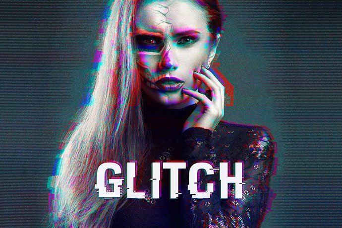Glitch-1 - 35+ Awesome Poster Design For Photoshop Actions [year]