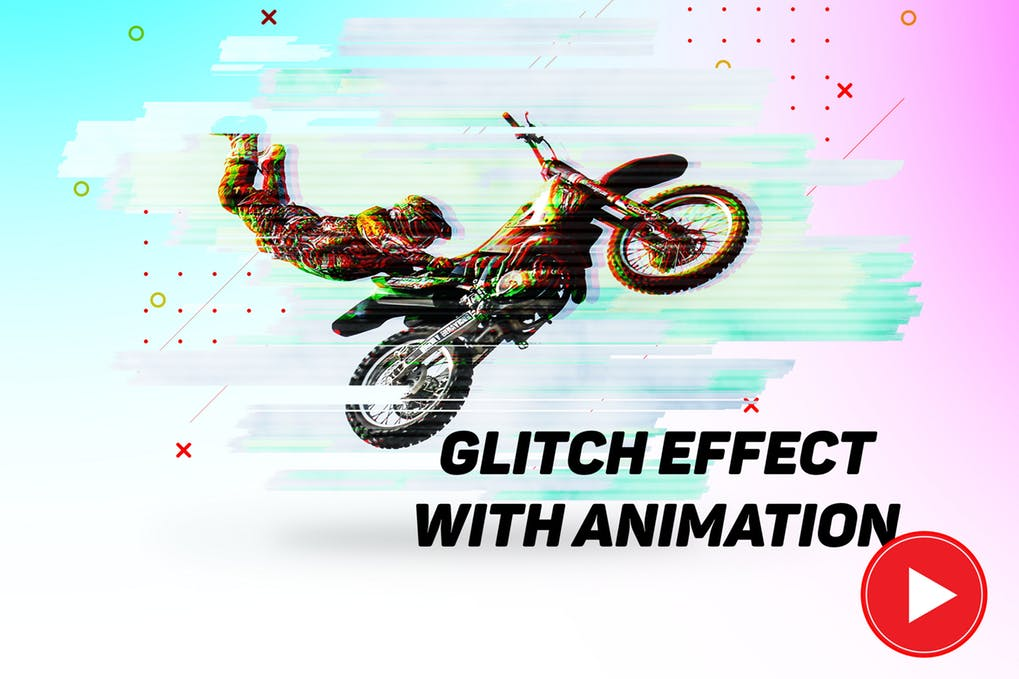 Glitch-effect - 35+ Awesome Animated GIF Photoshop Actions [year]