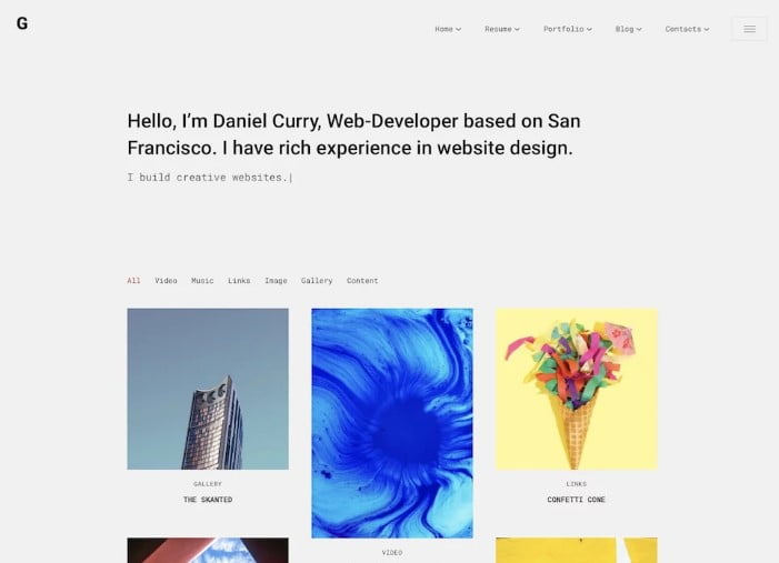 Glitche - 31+ Amazing WordPress Themes for Programmers [year]