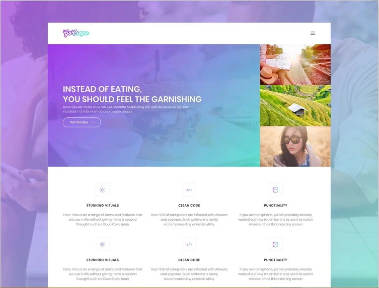 Go-Crepe - 77+ Best Free HTML & CSS Clean Simple Website Templates [year]