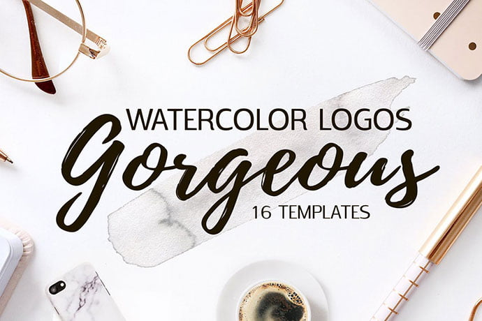 Gorgeous - 35+ Lovely Watercolor Logo Designs [year]