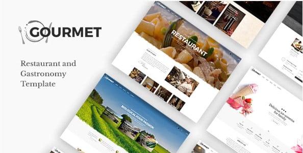 Gourmet - 41+ Stunning Restaurant Website HTML5 Templates [year]