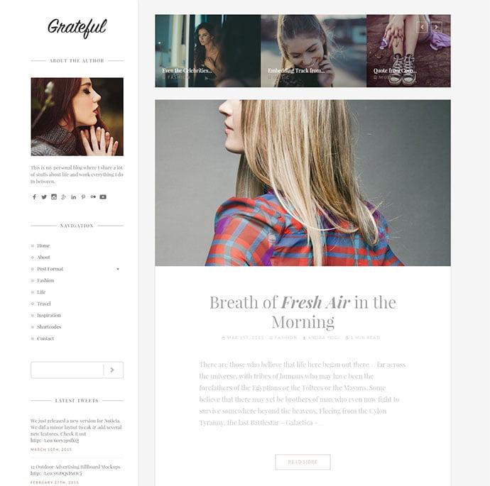 Grateful - 45+ Magazine & Blog WordPress Themes To Make Your Website [year]