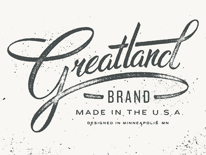 Greatland-Brand - 36+ Amazing Free Hand Drawn Logo Designs For You [year]