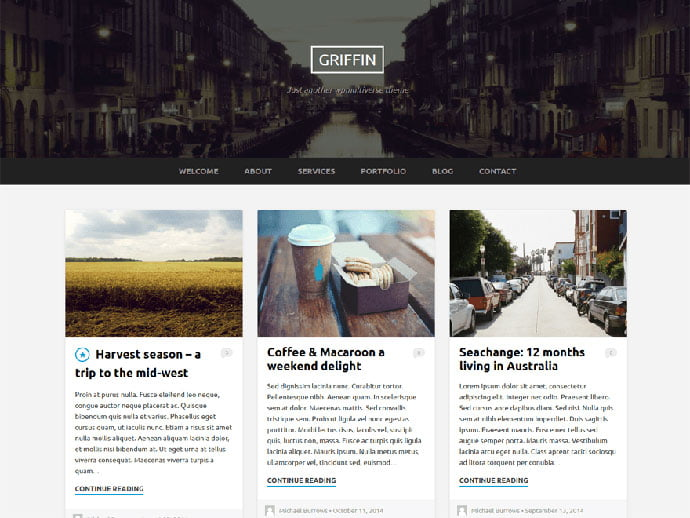 Griffin - 61+ Free Creating Responsive WordPress Themes [year]
