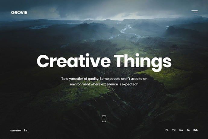 Grovie - 35+ Awesome Twitter Bootstrap Portfolio Site Templates