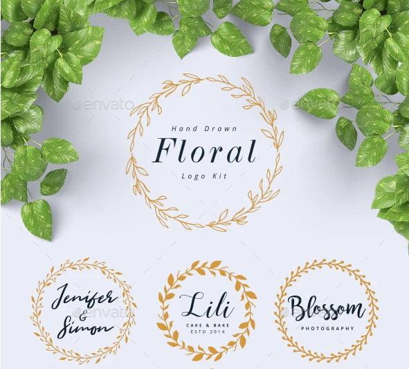 Hand-Drawn-Floral-Logo-Kit